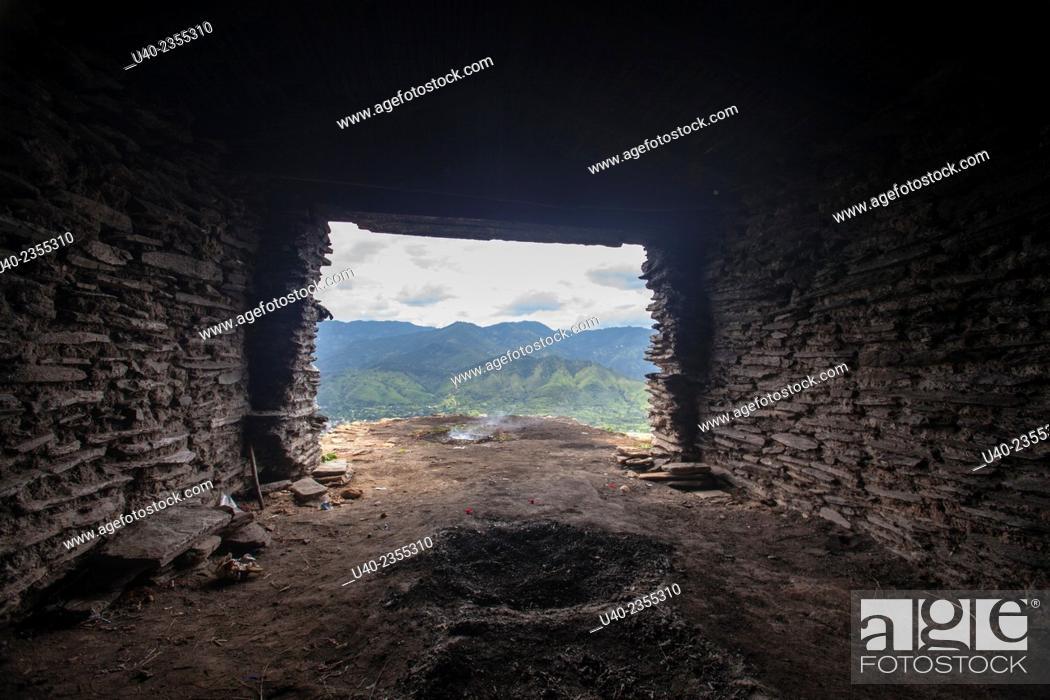 Stock Photo: Guatemala, Rabinal, Ruins of Kajyup.