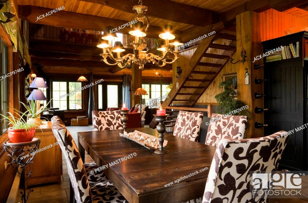 Marvelous Dining Room With Wooden Table And Upholstered Chairs Inside Home Interior And Landscaping Oversignezvosmurscom