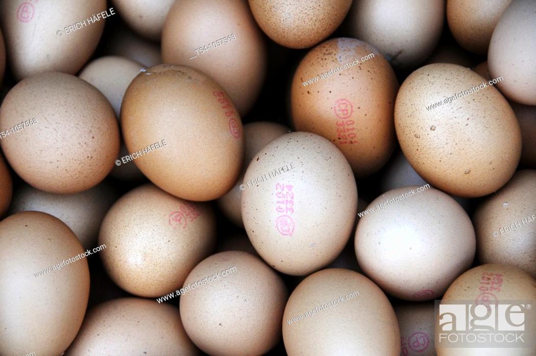 Stock Photo: Eggs on a Market in Bangkok.