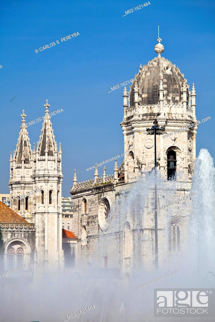 Stock Photo: Mosteiro dos Jerónimos Monastery, UNESCO World Heritage Site, Lisbon, Portugal, Europe.