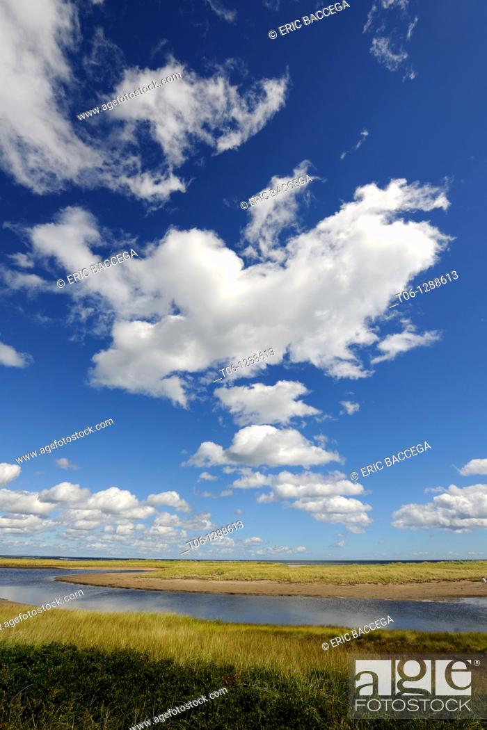 Stock Photo: The lagoon behind the Barrier Island system at Kellys Beach  Kouchibouguac National Park, New Brunswick, Canada.