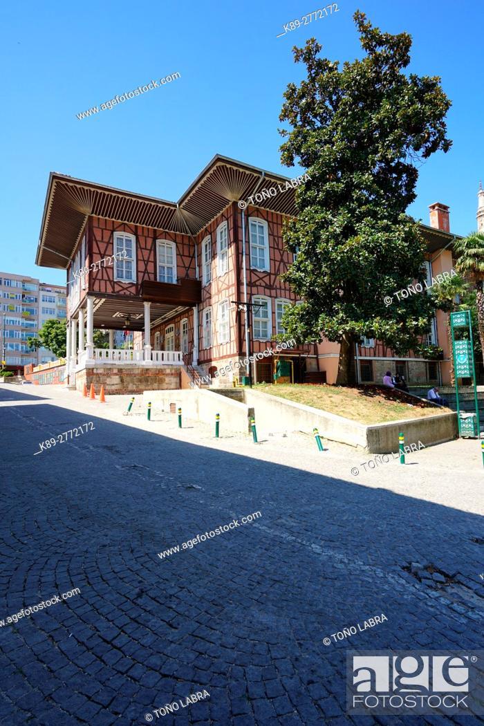 Stock Photo: Late Ottoman vernacular architecture. Bursa streets. Turkey.
