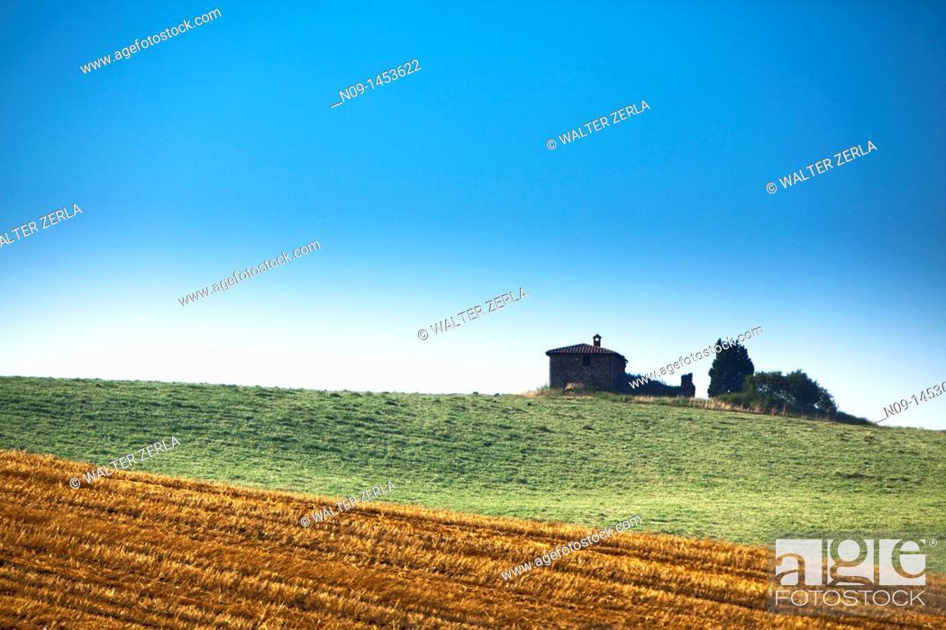 Stock Photo: Pienza, Tuscany.