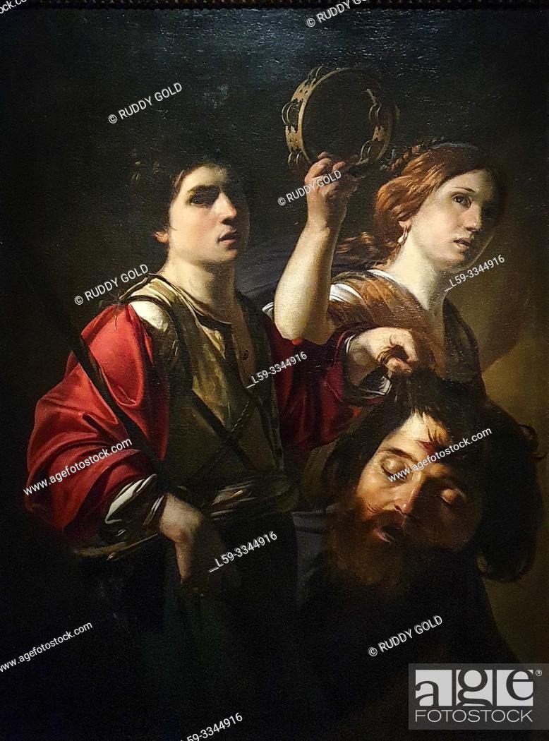 Stock Photo: 'The Triumph of David', 1615, Bartolomeo Manfredi (1582-1622).