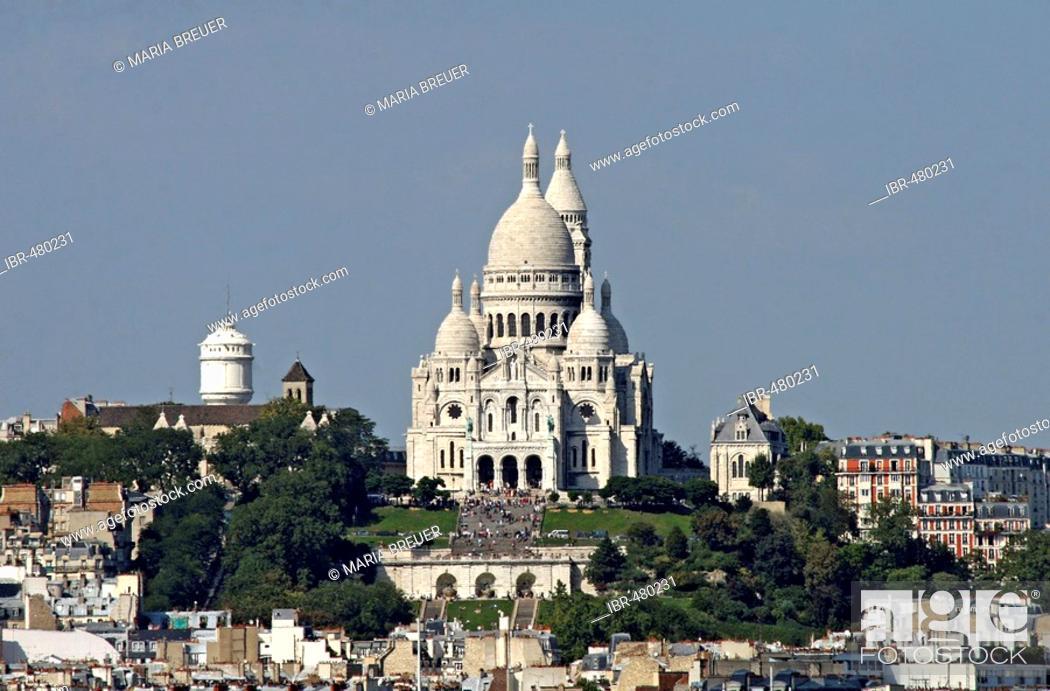 Stock Photo: Sacre Coeur Paris France.