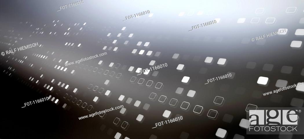 Stock Photo: Diminishing square pattern.