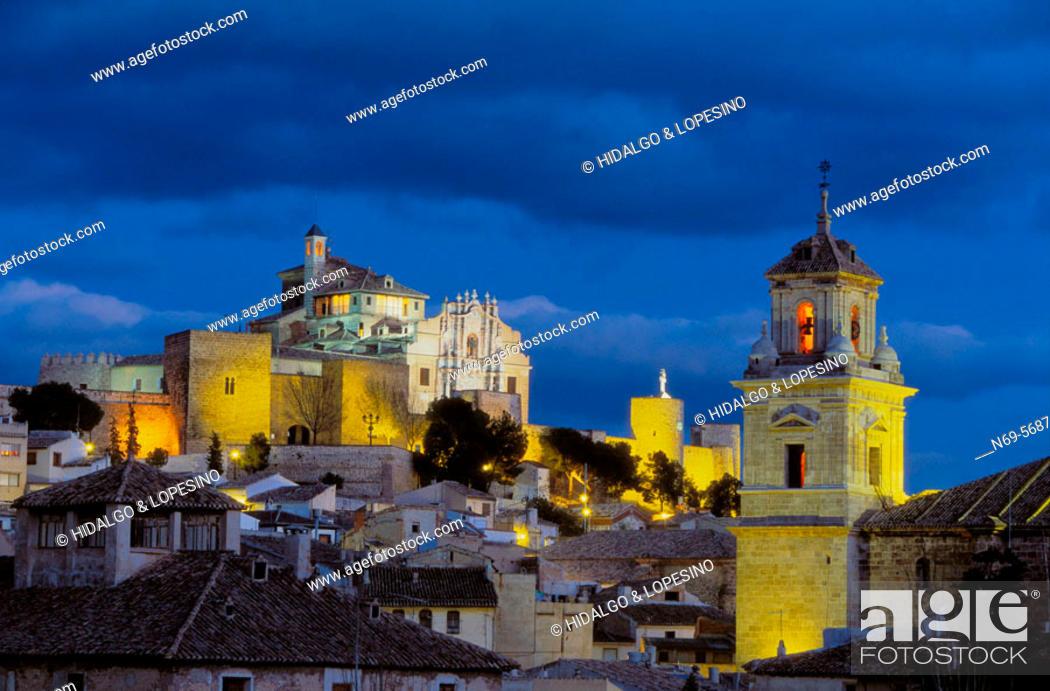 Stock Photo: Caravaca de la Cruz. Salvador church and Veracruz sanctuary. Murcia province. Spain.