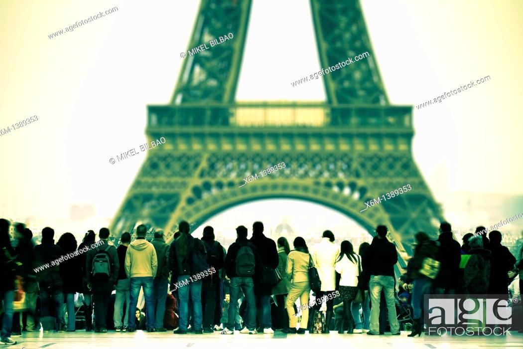 Stock Photo: Eiffel Tower  Paris, France, Europe.