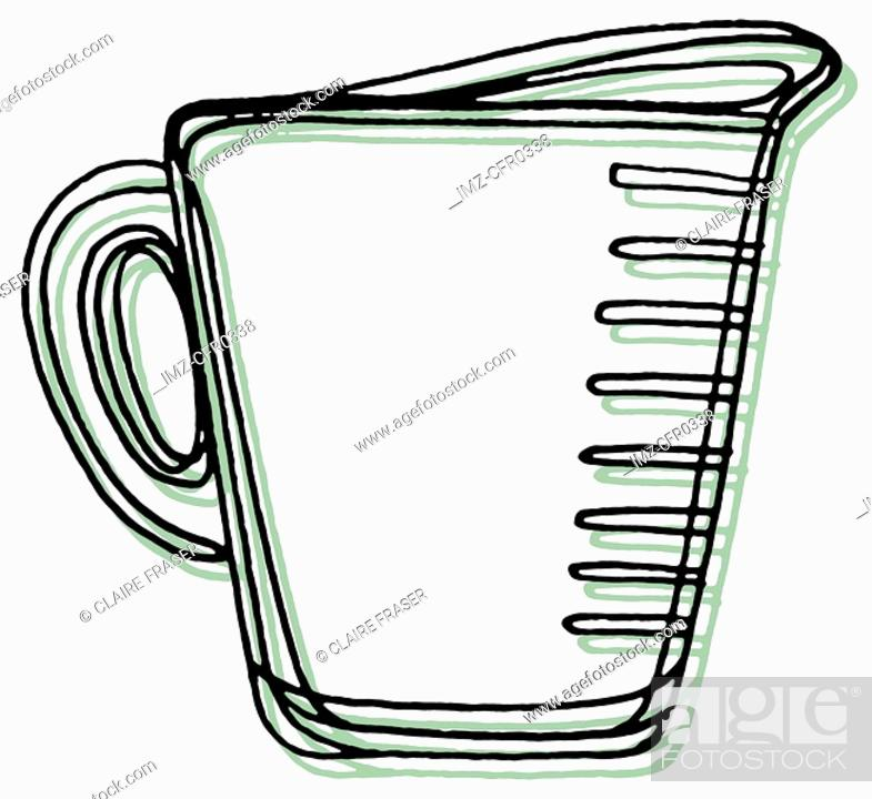 Stock Photo: A measuring cup.