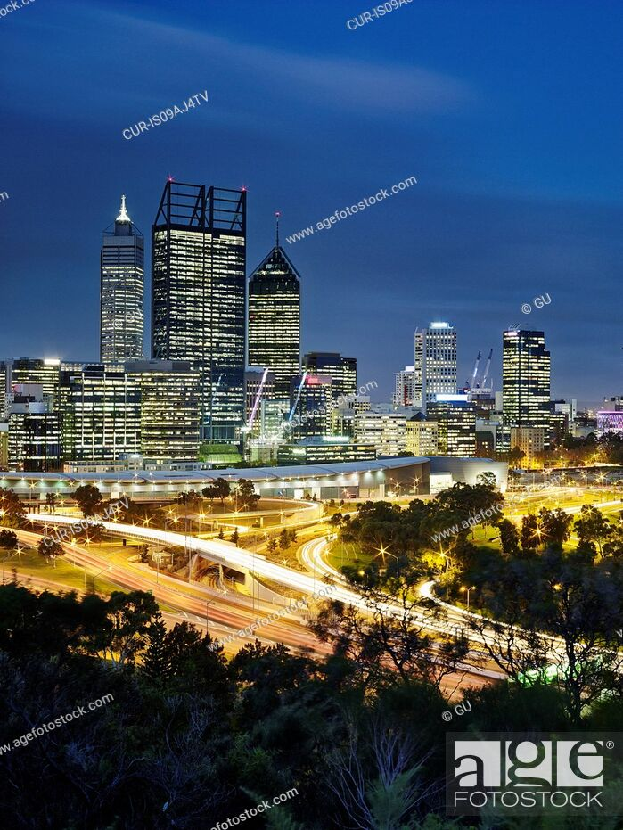 Imagen: Perth skyline, viewed from Kings Park, Perth, Australia.