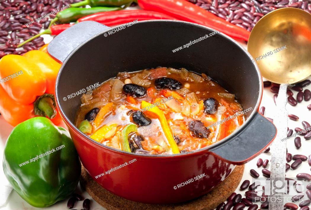 Stock Photo: Mexican bean soup.