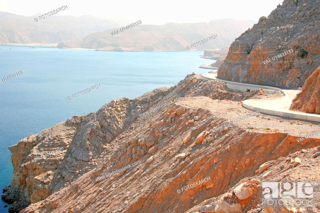 Stock Photo: oman, road.