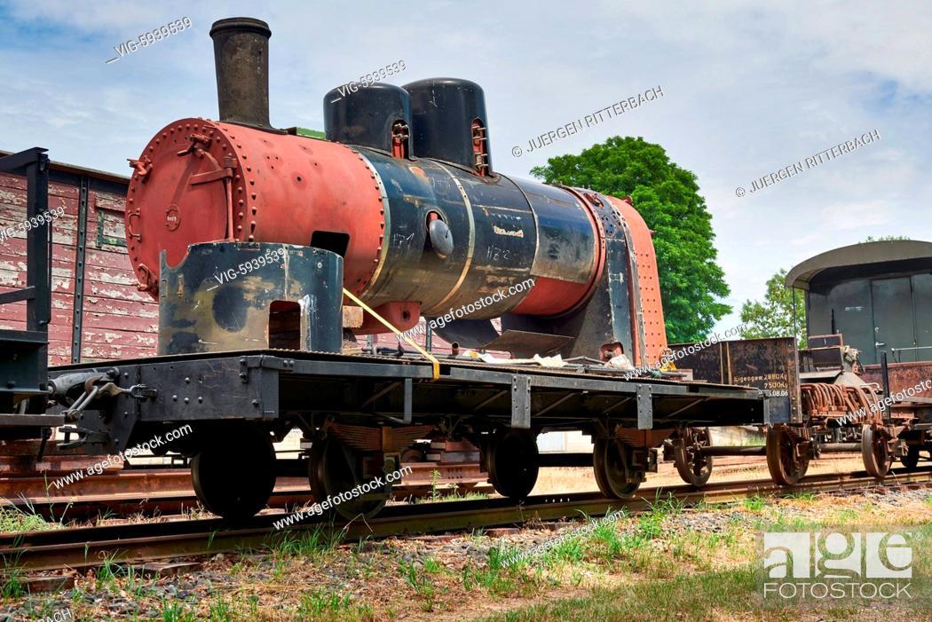Photo de stock: GERMANY, GANGELT, 08.07.2017, Selfkantbahn, Historical narrow-gauge railway, Schierwaldenrath, Heinsberg, North Rhine-Westphalia, Germany - Gangelt, Germany.