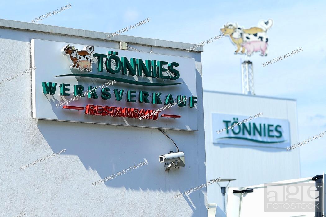 Imagen: 21 June 2020, North Rhine-Westphalia, Rheda-Wiedenbrück: Coronavirus - wave of infection at meat processor Tönnies 21.06.