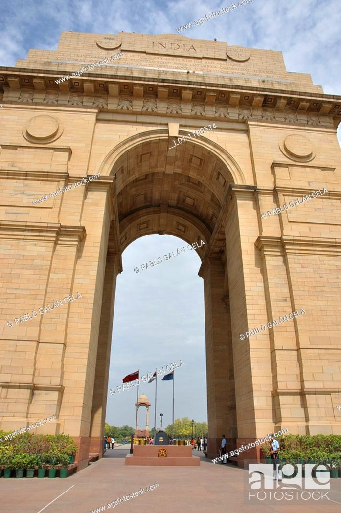 Stock Photo: Indian Gate New Delhi, India.