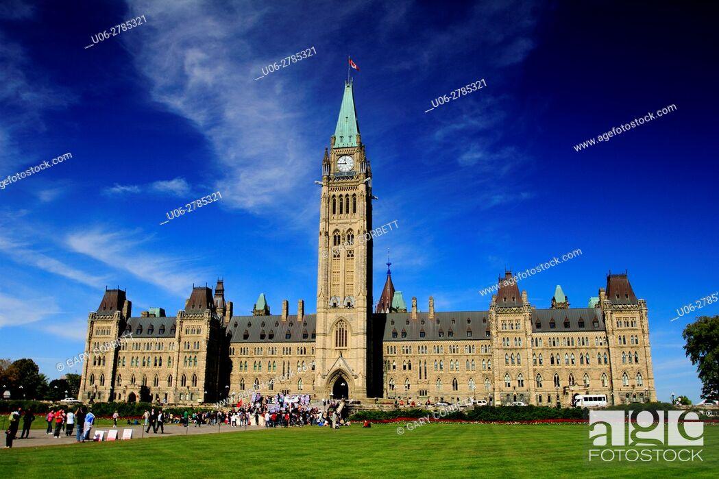 Imagen: Parliament buildings, Ottawa, Ontario, Canada.
