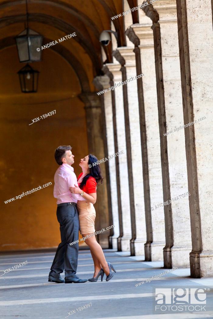 Stock Photo: Couple San Ivo alla Sapienza Rome Italy.