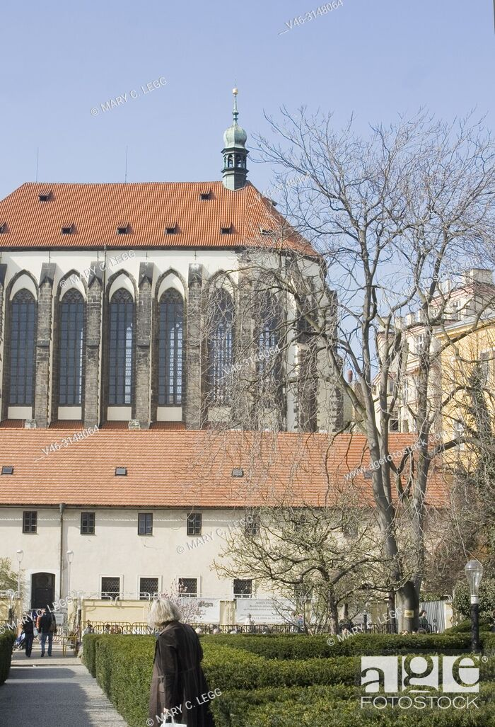 Stock Photo: Church of Our Lady of the Snow. Established in 1397 as Carmelite Order. Highest vault in Prague with 34 meters. In 15th century became the seat for Jan Zelivsky.