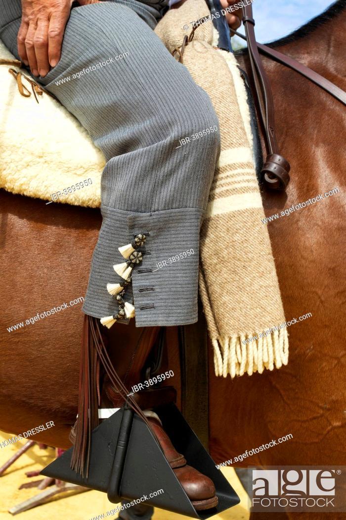 Stock Photo: Horseman at the Feria del Caballo Horse Fair, Jerez de la Frontera, Cádiz province, Andalusia, Spain.