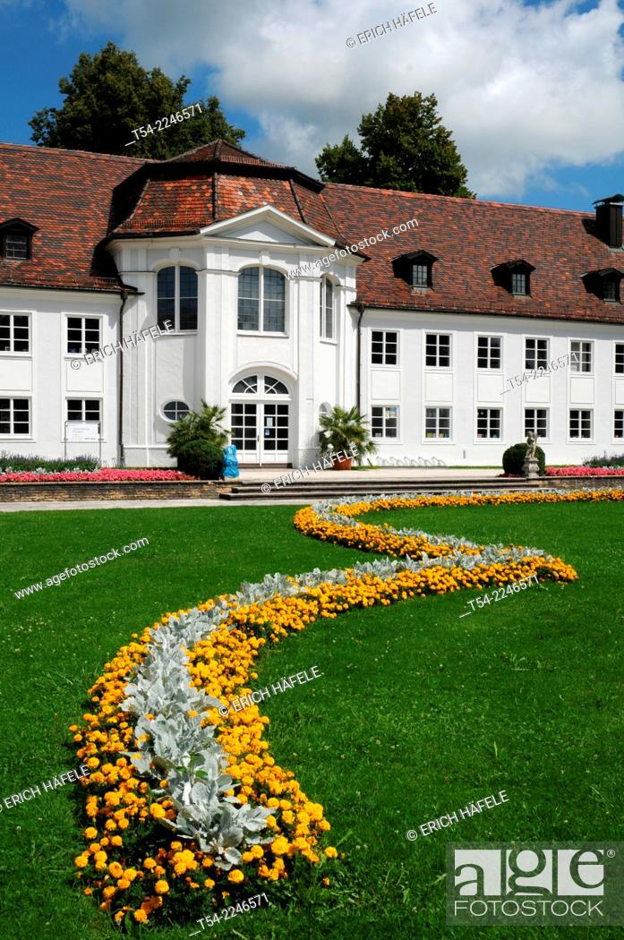 Stock Photo: Courtyard of the Residenz in Kempten, Bavaria, Allgäu.