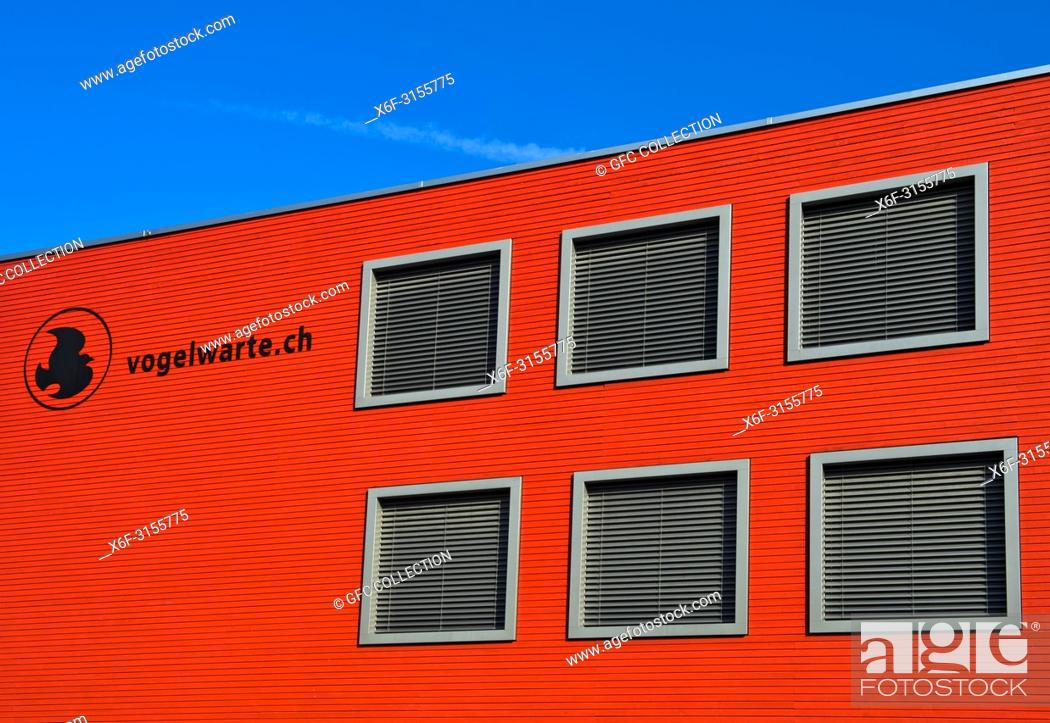 Stock Photo: Headquarters, Swiss Ornithological Institute, Sempach, Switzerland.