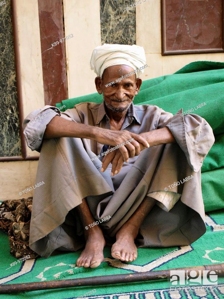 Stock Photo: Hombre nubio , El Cairo , Egipto.