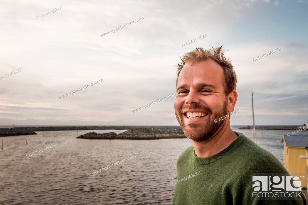 Stock Photo: Portrait of man smiling, Andenes, Norway.