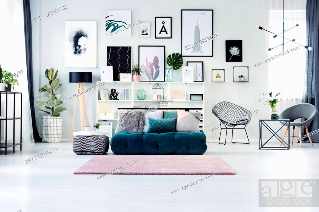 Scandi Living Room Interior With A