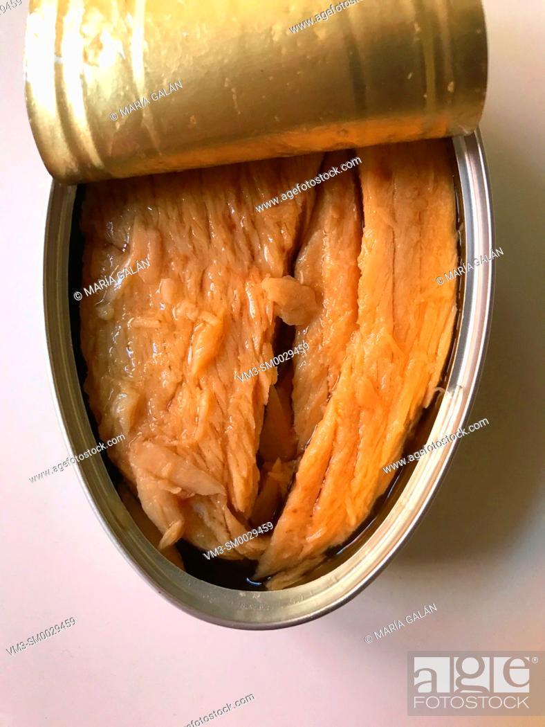 Stock Photo: Canned tuna loin.