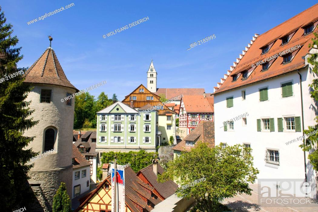 Stock Photo: Historic district and the castle, Oberstadt district, Meersburg, Baden-Wuerttemberg, southern Germany, Germany, Europe.
