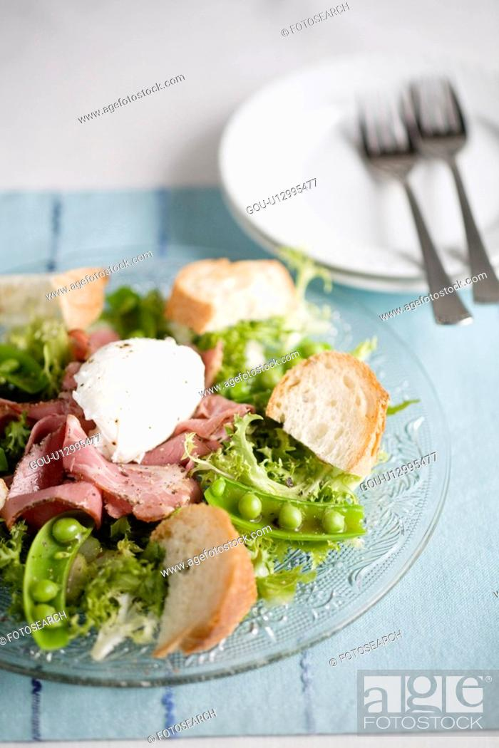Stock Photo: Salad on a plate.