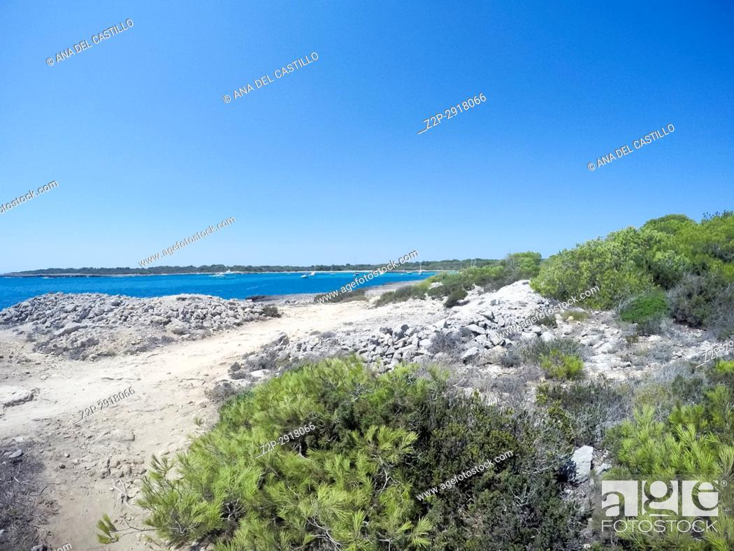 Stock Photo: Son Saura beach Minorca Balearic islands Spain.