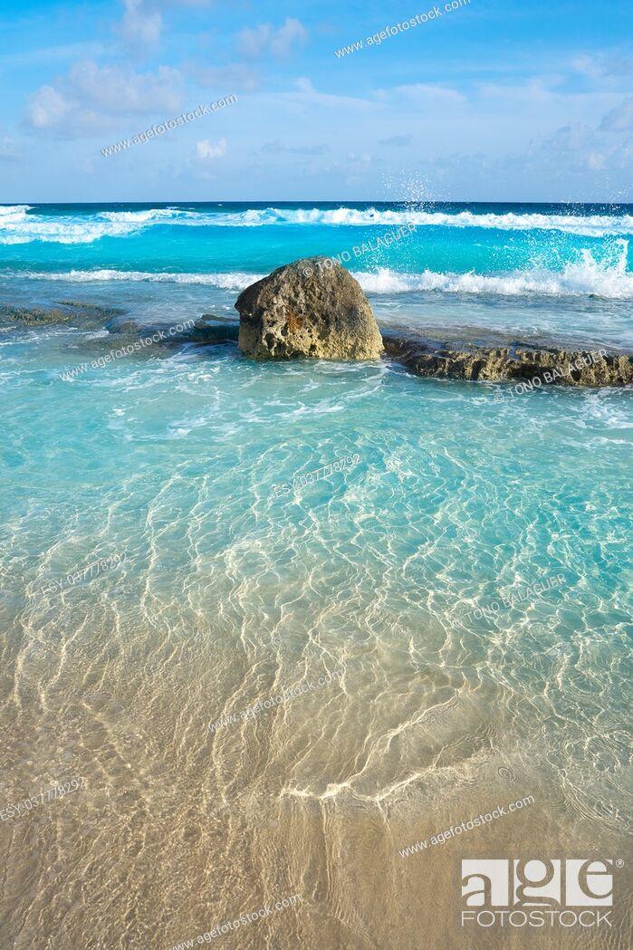 Stock Photo: Chen Rio beach Cozumel island in Riviera Maya of Mayan Mexico.