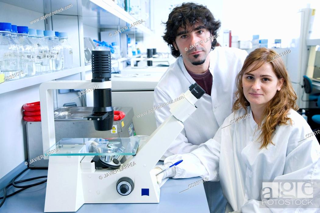 Stock Photo: Culture room, biopharmaceutical lab, development and production of innovative drugs using adult stem cells, Cellerix, Grupo Genetrix, Madrid.