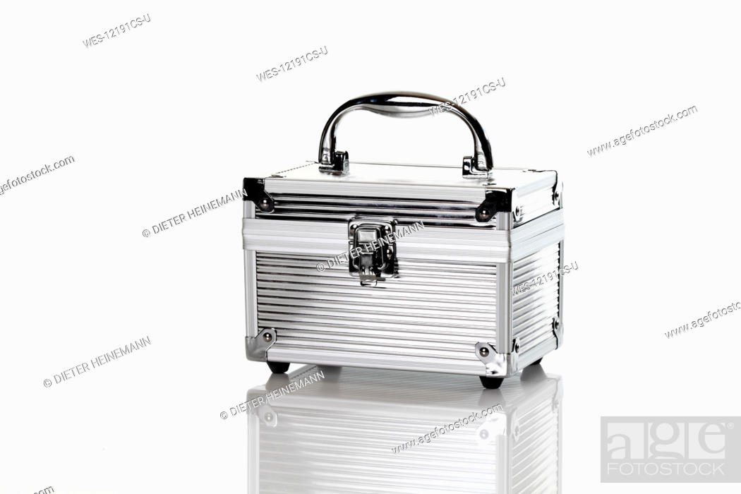 Stock Photo: Beauty case against white background.