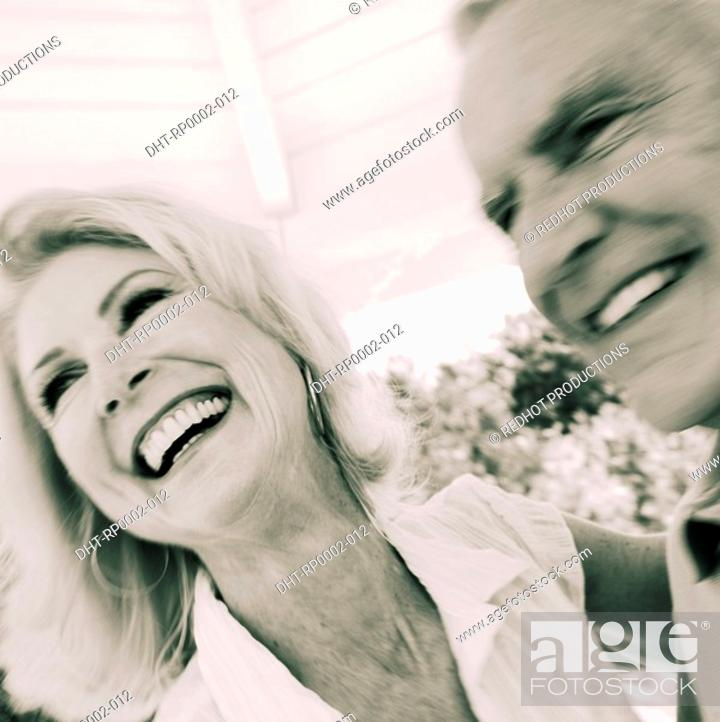 Stock Photo: A couple in a gazebo.