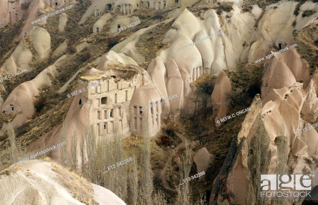 Stock Photo: the old valley in middle anatolia in turkey.