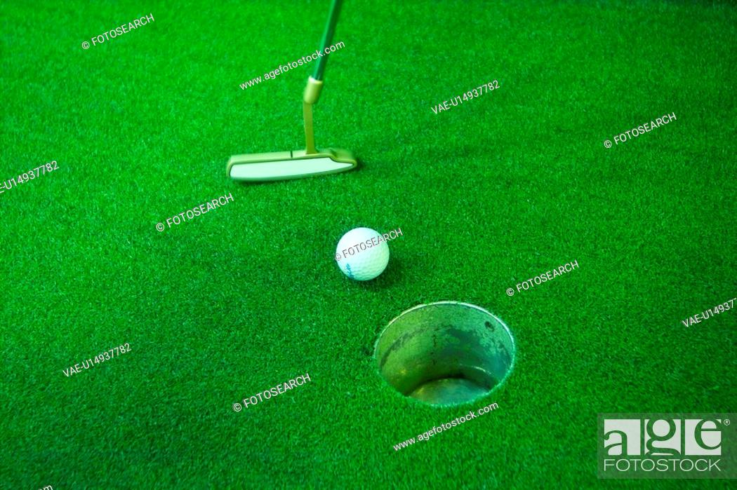 Stock Photo: ball, leisure, putter, club, golf, hole, sports.