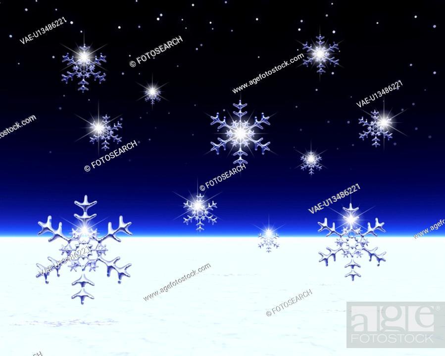 Stock Photo: Snow crystal.