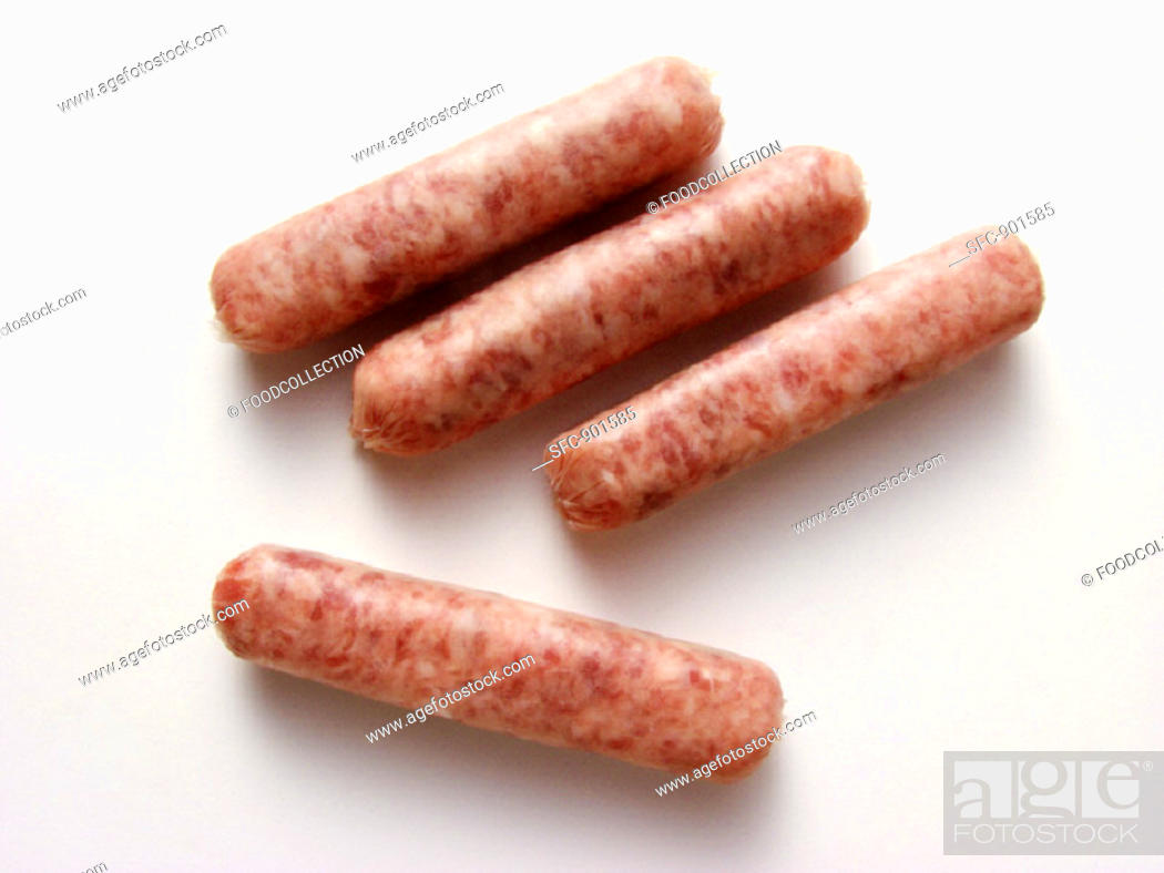 Stock Photo: Four Breakfast Sausages.