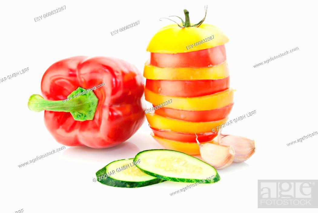 Stock Photo: Fresh vitamin background.