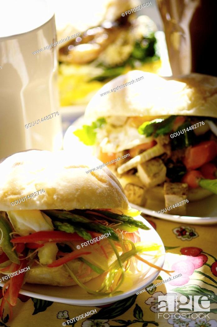 Stock Photo: Sandwich.