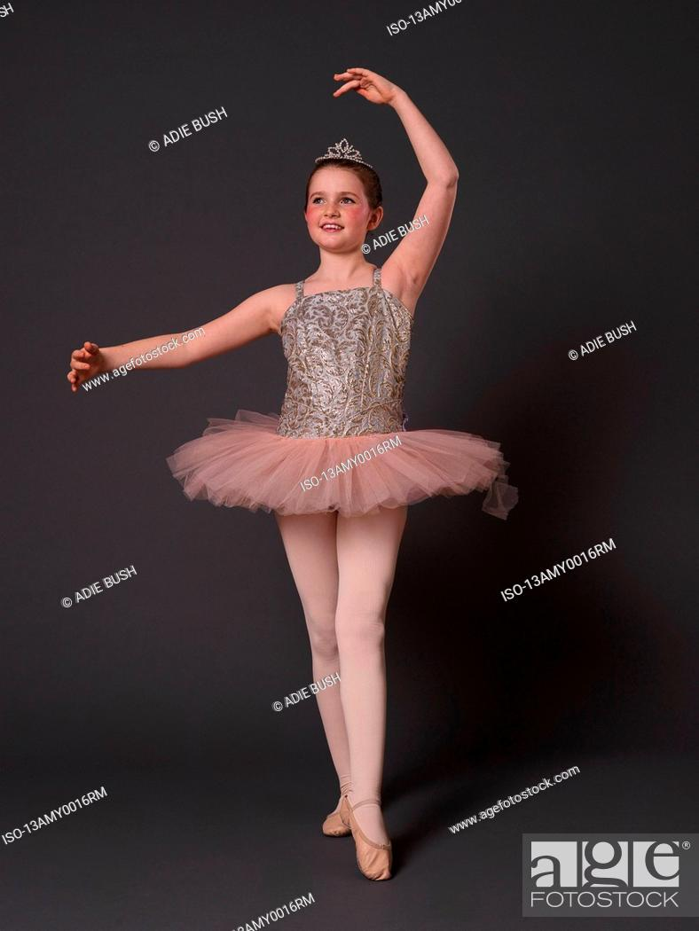 Stock Photo: Ballerina in pink tutu.