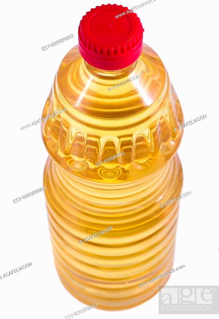 Stock Photo: cooking oil bottle isolaten on white background.