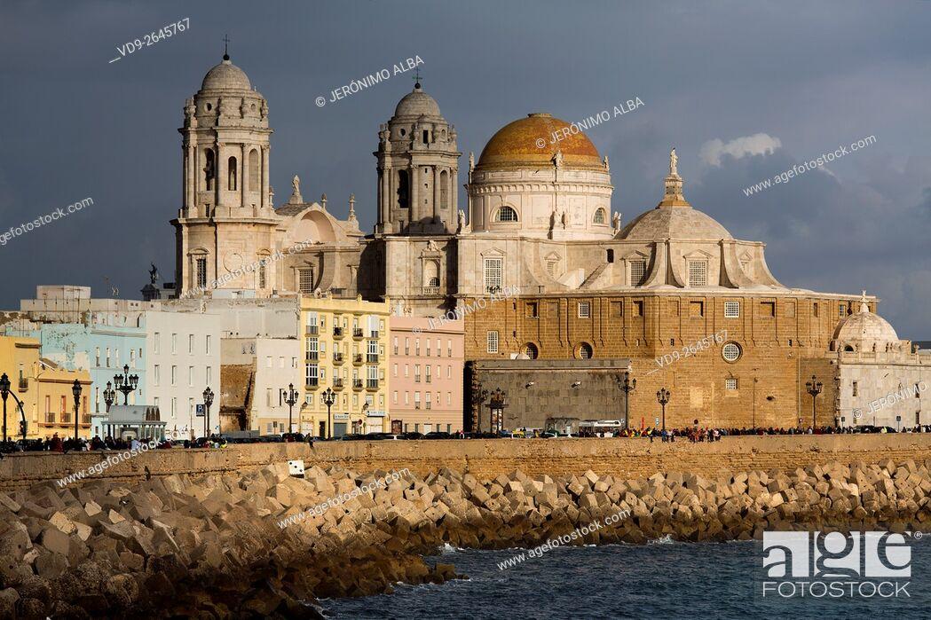 Imagen: Barrio de la Viña. Seafront, historic center and cathedral of Santa Cruz. Cadiz City, Andalusia Spain. Europe.