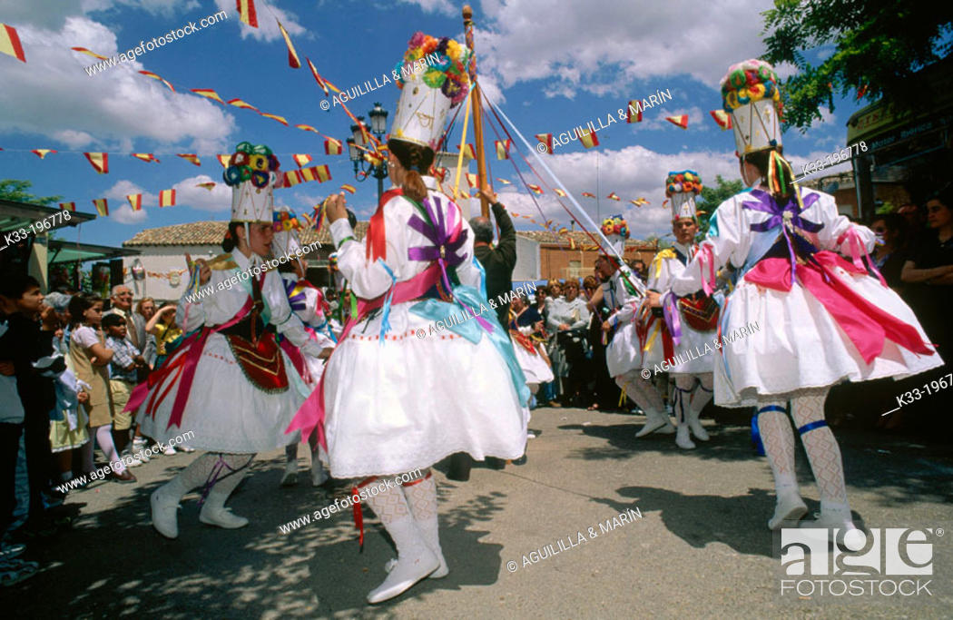 Stock Photo: Dancers during local festival. Belinchón. Toledo province. Spain.