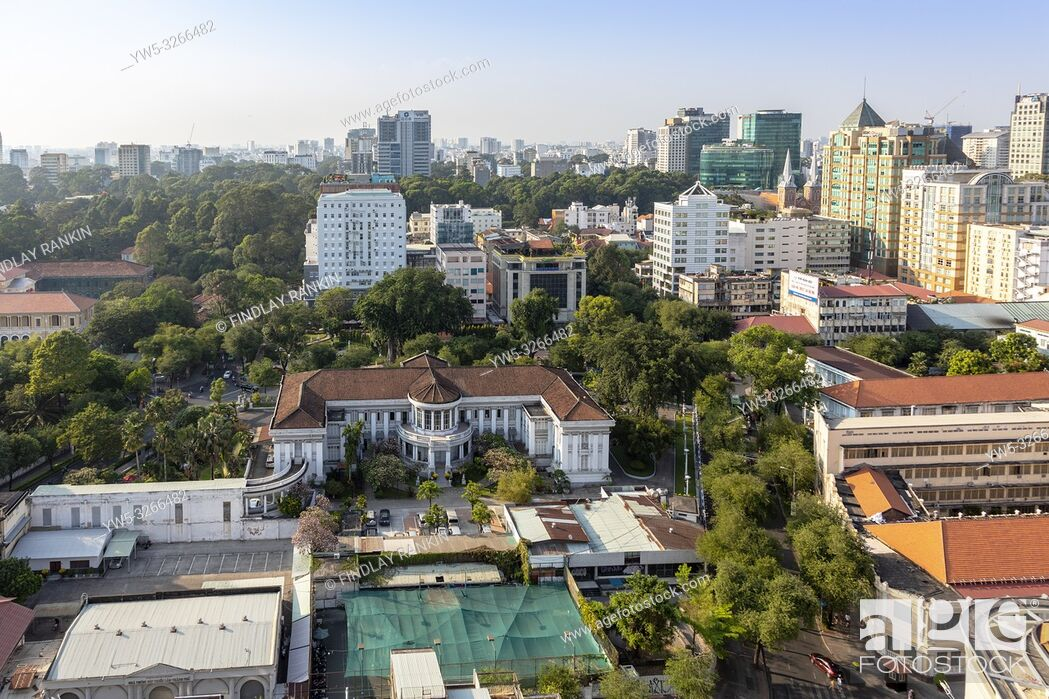 Stock Photo: Sky line at Ho Chi Minh city, Saigon, Vietnam, Asia, .