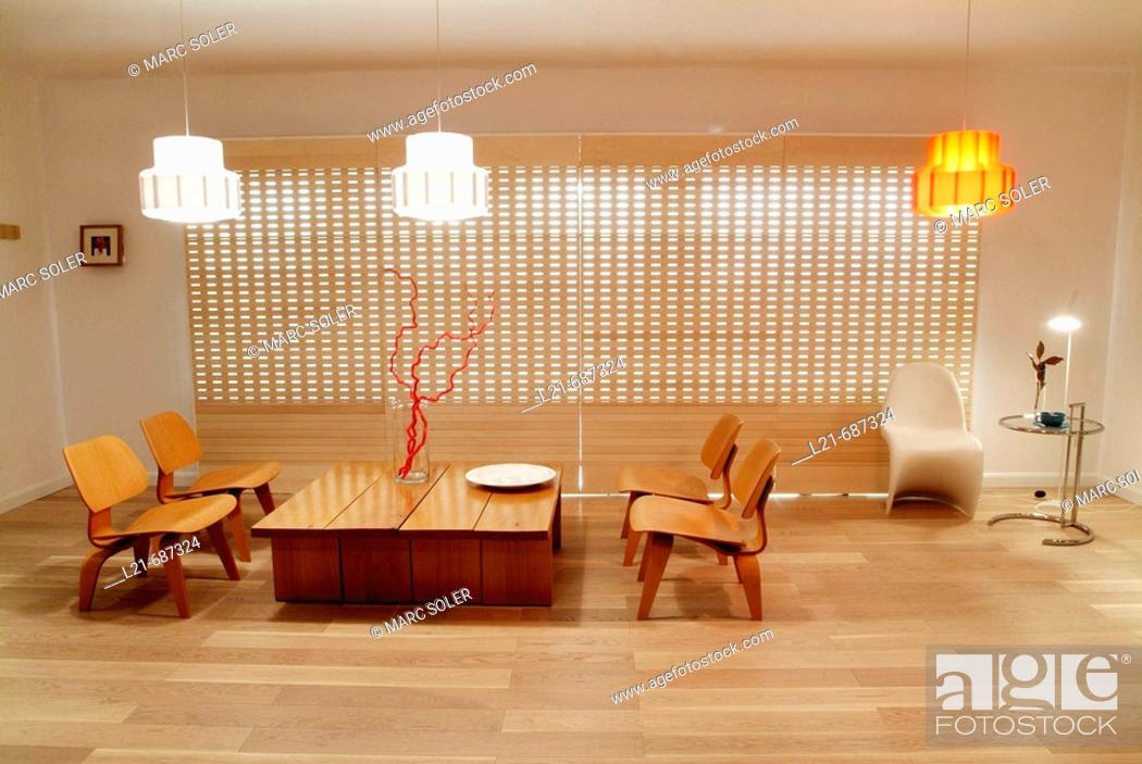Stock Photo: Modern interior. Dining room.