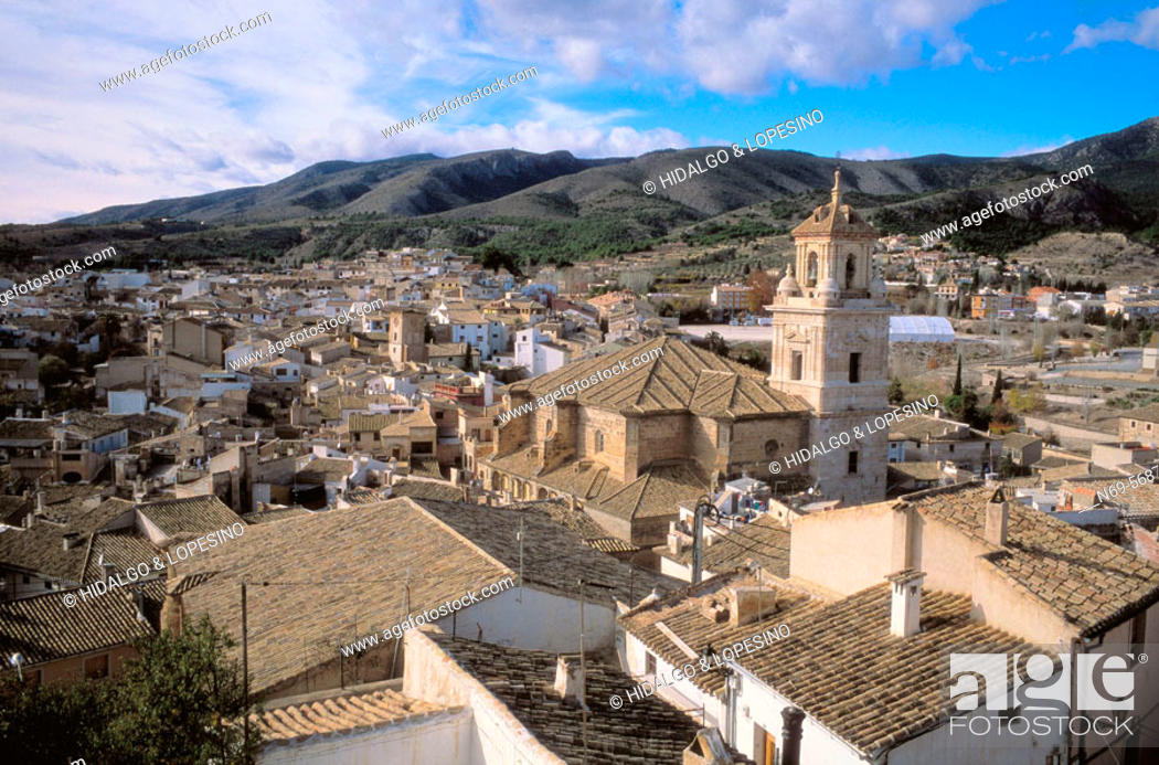 Stock Photo: Caravaca de la Cruz. Medieval neighbourhood. Salvador church. Murcia province. Spain.