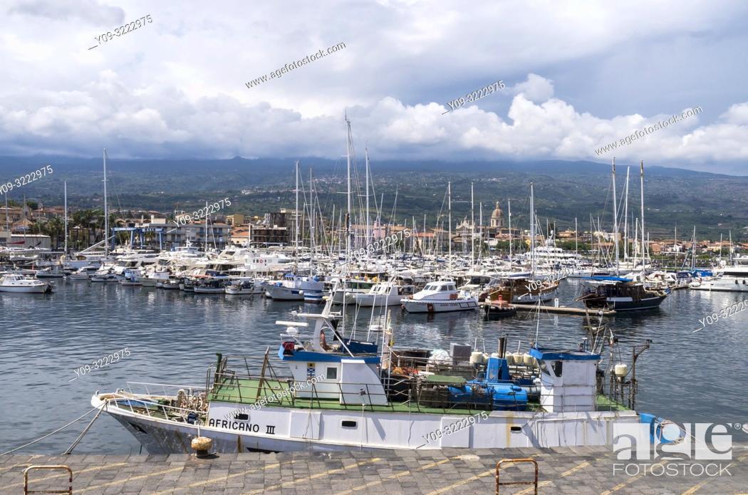 Stock Photo: Port of Etna, Riposto, Riposto, Catania, Sicily, Italy.